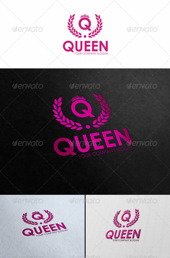 Queen - Fashion Logo Template - Letters Logo Templates
