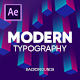 Modern Typography | Responsive Design | Auto Resizable Titles - VideoHive Item for Sale