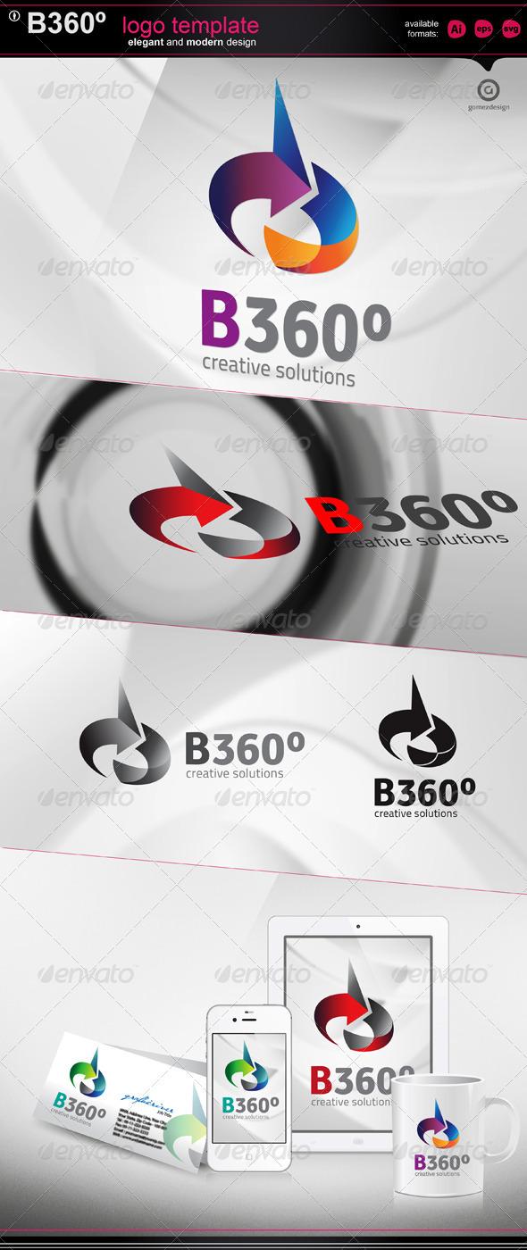 B 360 - logo template - Letters Logo Templates