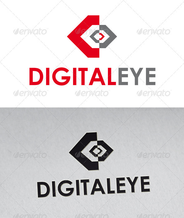 Digital Eye Logo  - Vector Abstract