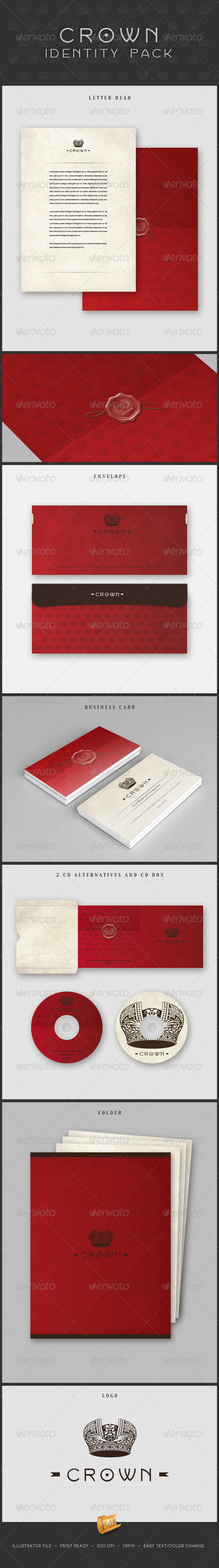 Crown Identity - Stationery Print Templates
