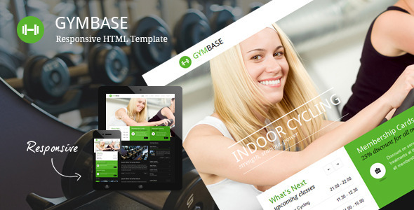 GymBase - Responsive Gym Fitness Template - Miscellaneous Site Templates