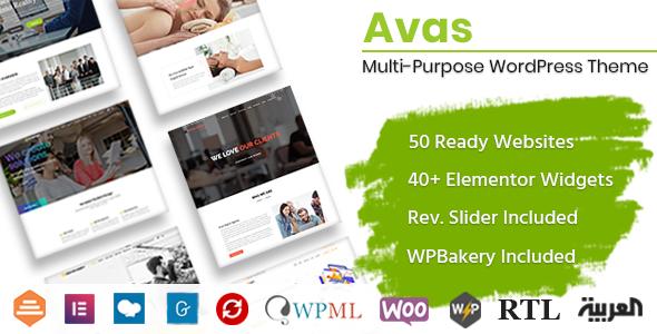 Avas | Multi-Purpose WordPress Theme