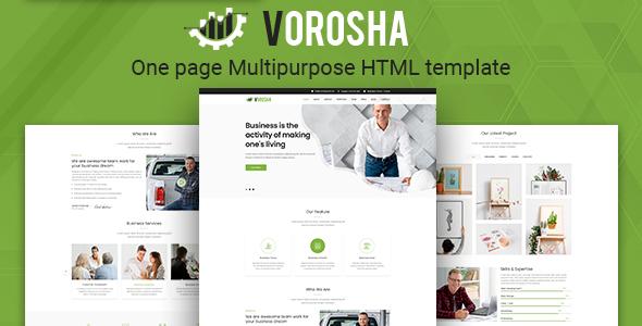 Vorosha - OnePage Multipurpose HTML Template