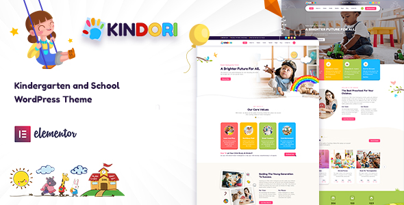 Kindori - School Kindergarten WordPress Theme