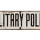 Isolated Sign For Military Police - PhotoDune Item for Sale