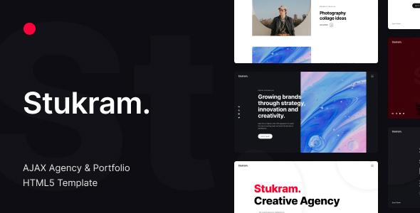 Stukram – AJAX Agency & Portfolio Template