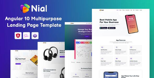 Download Nial - Angular 10 Landing Page Template }}