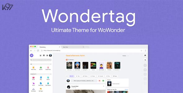 Wondertag - The Ultimate WoWonder Theme }}