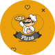 Heart Pizza Logo - VideoHive Item for Sale
