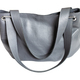 handcrafted gray leather soft handbag isolated - PhotoDune Item for Sale
