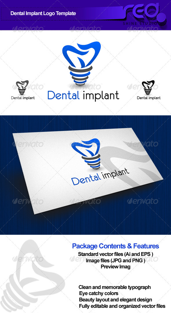 Dental Implant Logo - Symbols Logo Templates