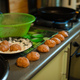 Cooking meatballs, ready mince lies by roasting on the kitchen table - PhotoDune Item for Sale