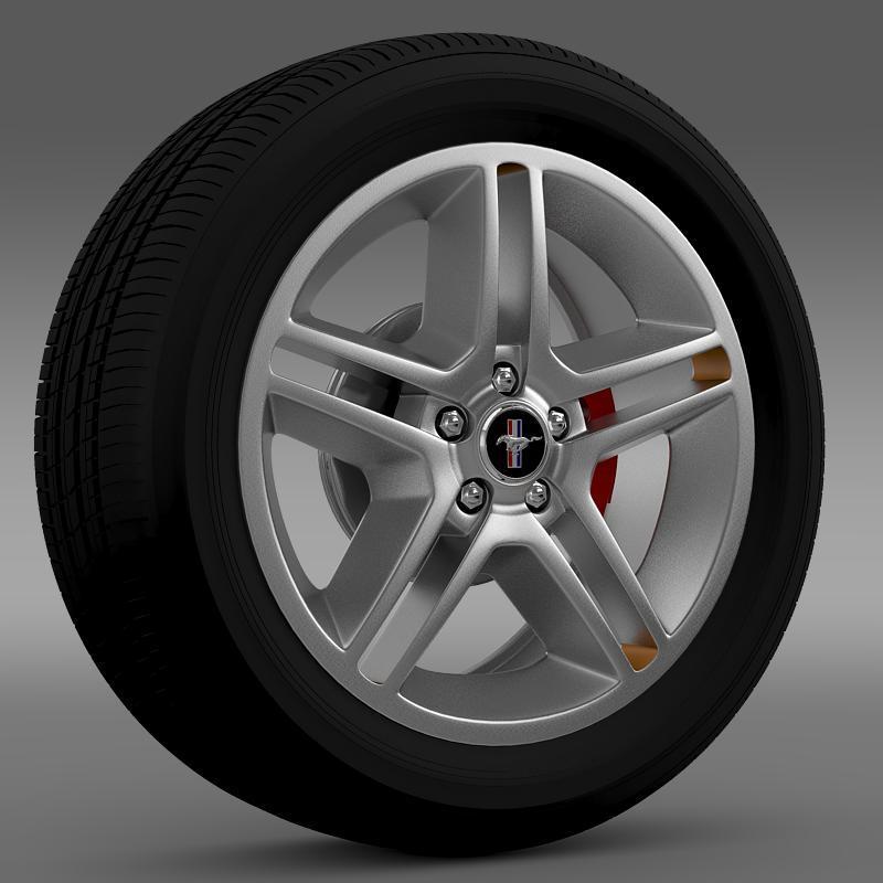 Ford Mustang 2010 AV X 10 wheel - 3DOcean Item for Sale