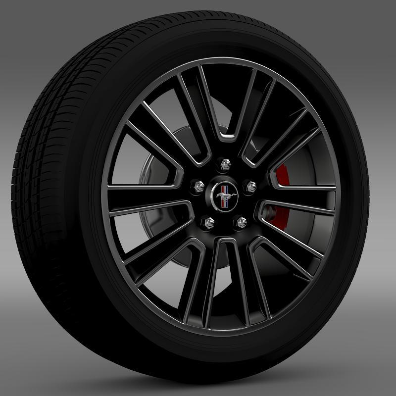 Ford Mustang 2010 wheel - 3DOcean Item for Sale