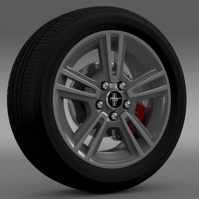 Ford Mustang 2013 wheel - 3DOcean Item for Sale