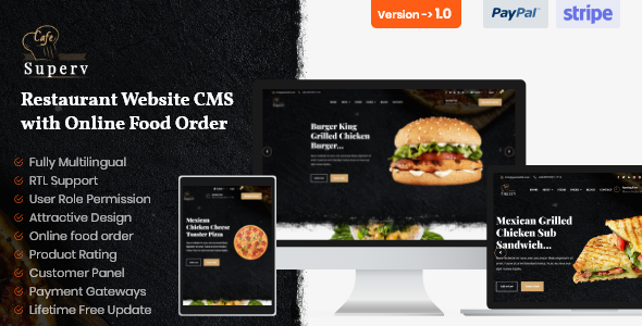 Restaurant Website CMS & Management System with Food Order