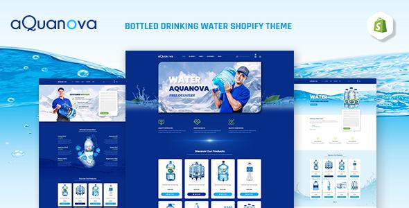 Aquanova | Bottled Drinking Water Shopify Theme