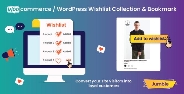Jumble - WooCommerce / WordPress Wishlist Collection & Bookmark Plugin