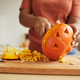 Unrecognizable Woman Carving Pumpkin - PhotoDune Item for Sale