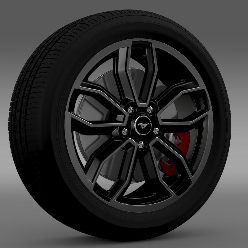 Ford_Mustang GT 2013 wheel - 3DOcean Item for Sale
