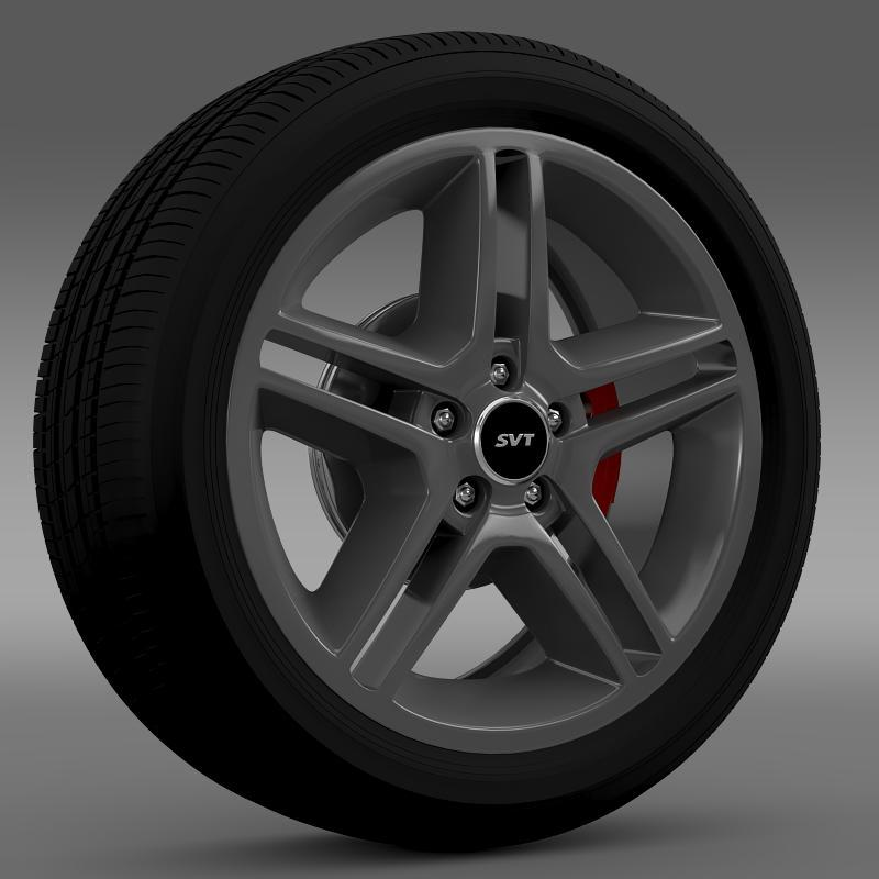 Ford_Mustang Shelby GT500 2010 wheel - 3DOcean Item for Sale