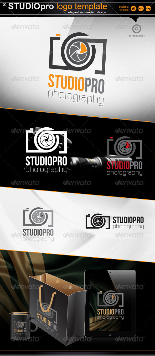 Studio pro - photography  - Objects Logo Templates