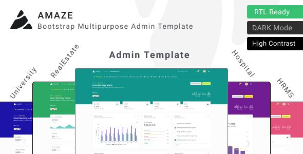 Amaze – Multipurpose Admin Template ui kit