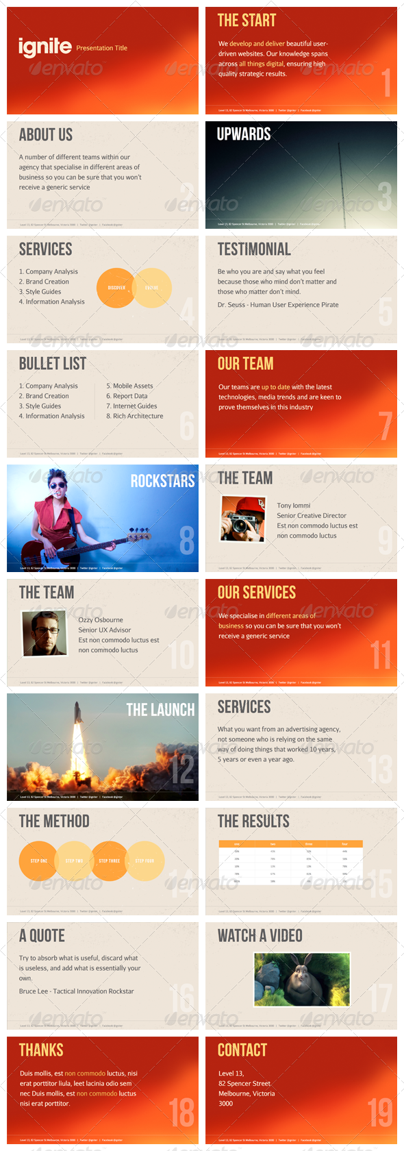 Ignite - Keynote Presentation Template - Creative Keynote Templates