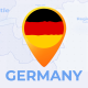 Germany Map - Deutschland Travel Map - Federal Republic of Germany Map - VideoHive Item for Sale