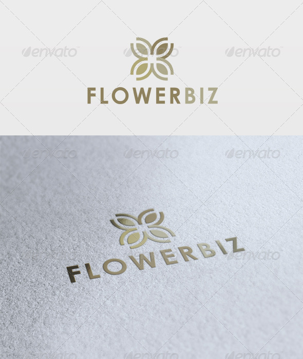 Flower Biz Logo - Vector Abstract