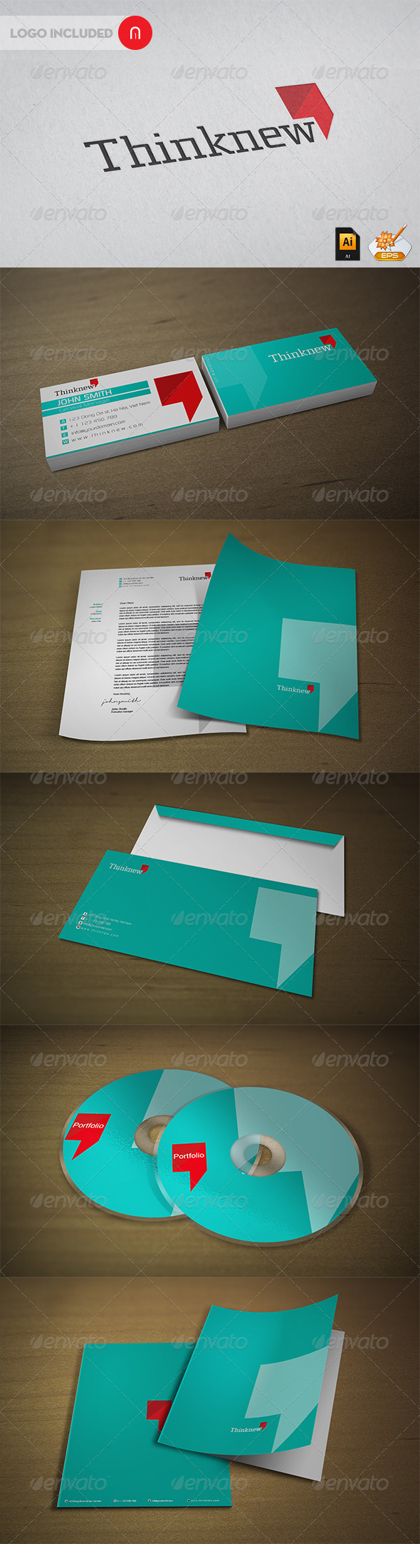Stationary & Identity --Thinknew - Stationery Print Templates