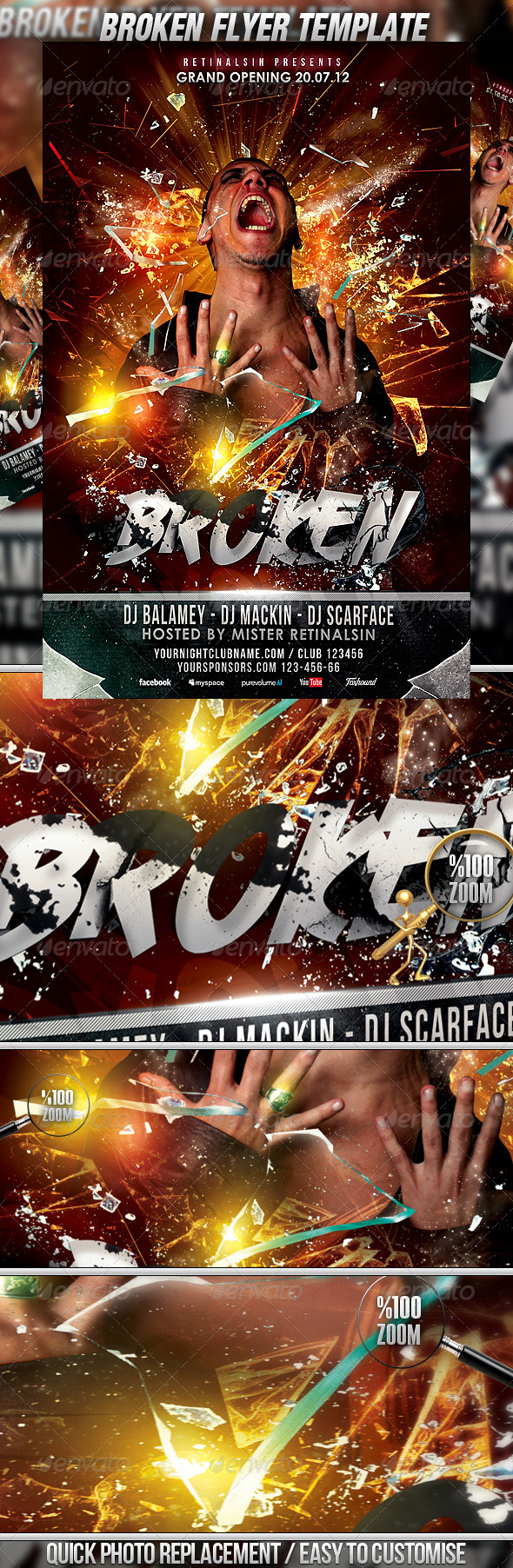 Broken Flyer Template - Events Flyers