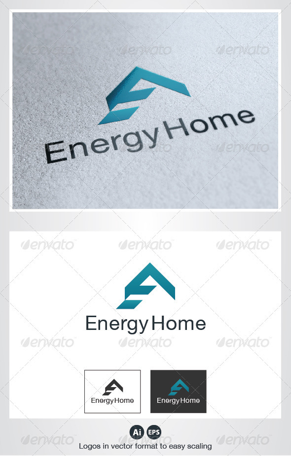 Energy Home Logo - Buildings Logo Templates