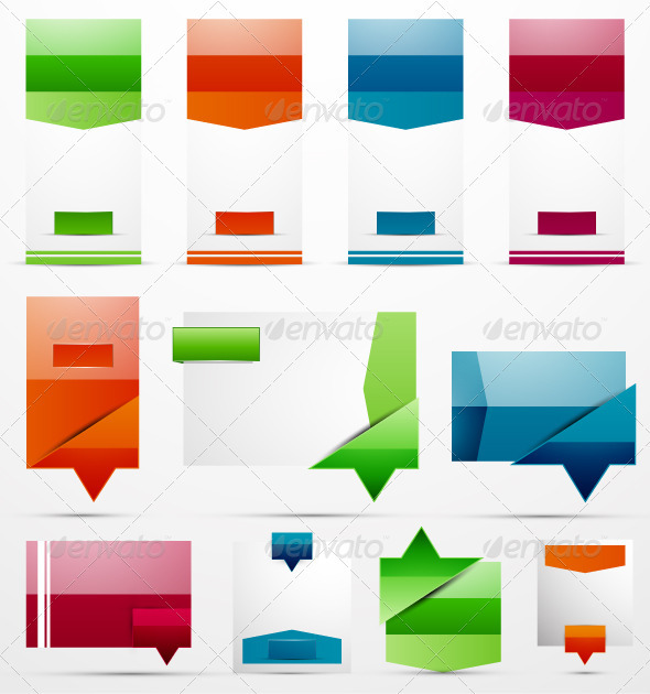 Clean Style Vector Banners - Web Technology