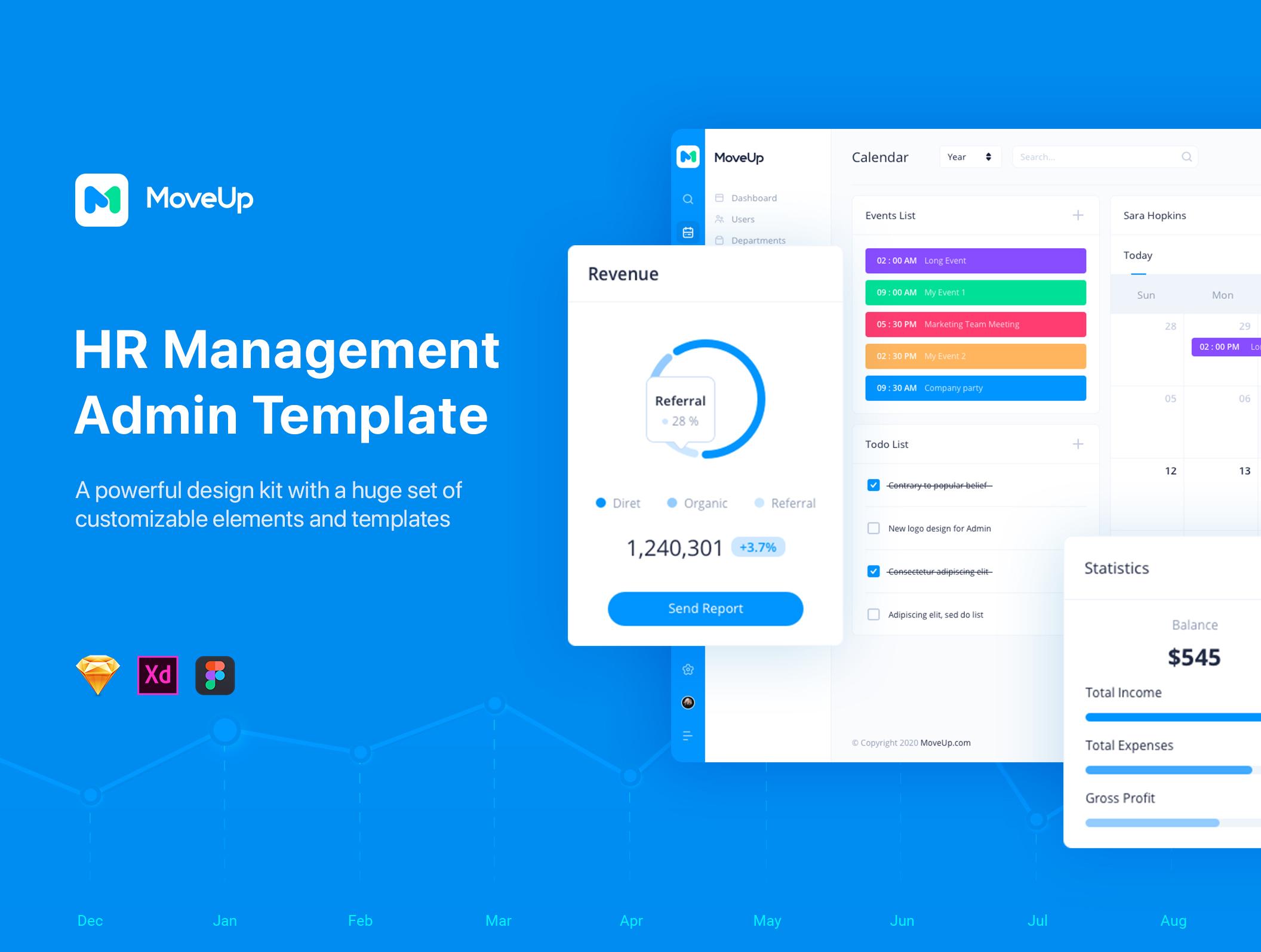 MoveUp - HR Management Admin Template