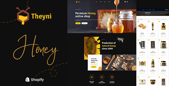 Theyni – Organic Food, Honey Shop Shopify Theme