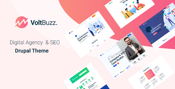 VoltBuzz – SEO & Marketing Agency Drupal 9 Theme