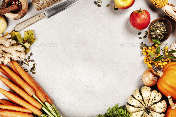 Healthy food cooking background, Vegetable ingredients., copy space - Stock Photo - Images