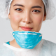 Covid-19, coronavirus disease, healthcare workers concept. Smiling, hopeful and exhausted asian - PhotoDune Item for Sale