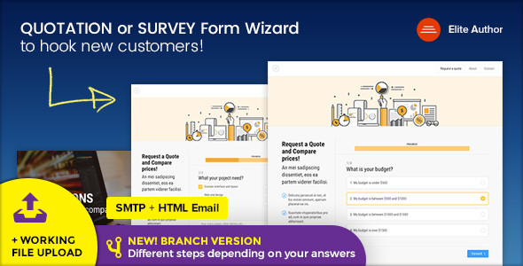 Super Quote - Quotation or Survey Form Wizard