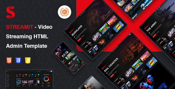 Streamit | Video Streaming VueJS, HTML Admin Template