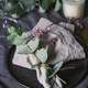 Festive table setting with floral decor. The concept of Thanksgiving or wedding dinner. - PhotoDune Item for Sale