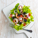 Greek salad with feta cheese, black olives and onion - PhotoDune Item for Sale