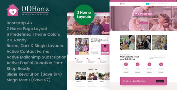 Wondrous Odhomz - Senior Care HTML