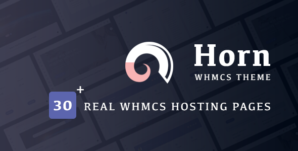 Horn – WHMCS Dashboard Hosting Theme