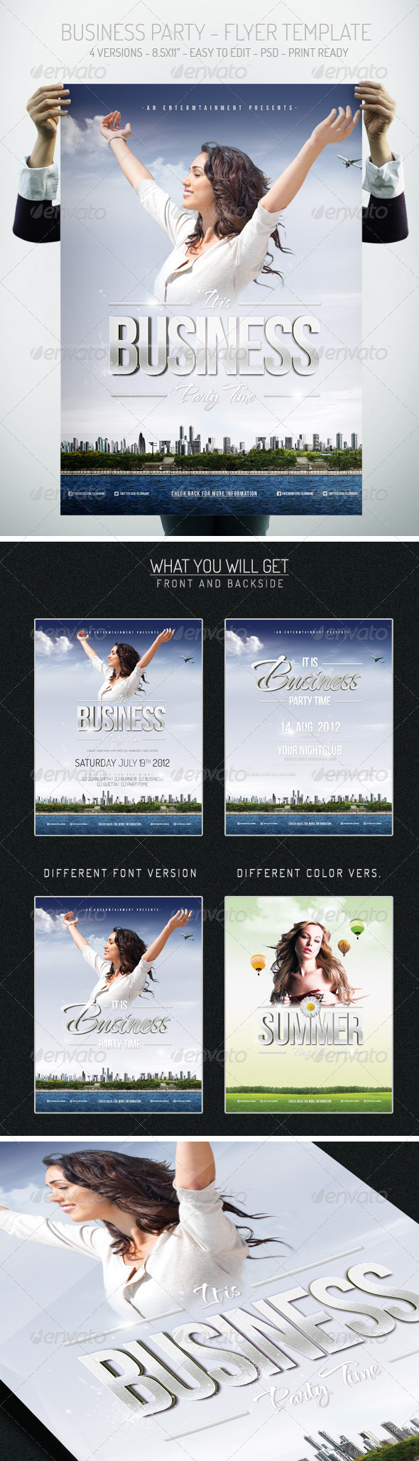 Business Party - Flyer Template - Clubs & Parties Events