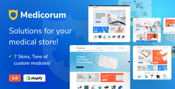 Medicorum – Shopify Template for Medical Stores