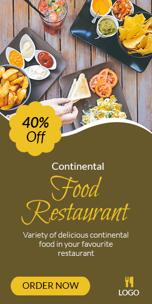 Food & Restaurant | Restaurant Banner (FR002) by ad_animate | CodeCanyon