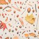 Flat lay autumn season decoration, top view - PhotoDune Item for Sale